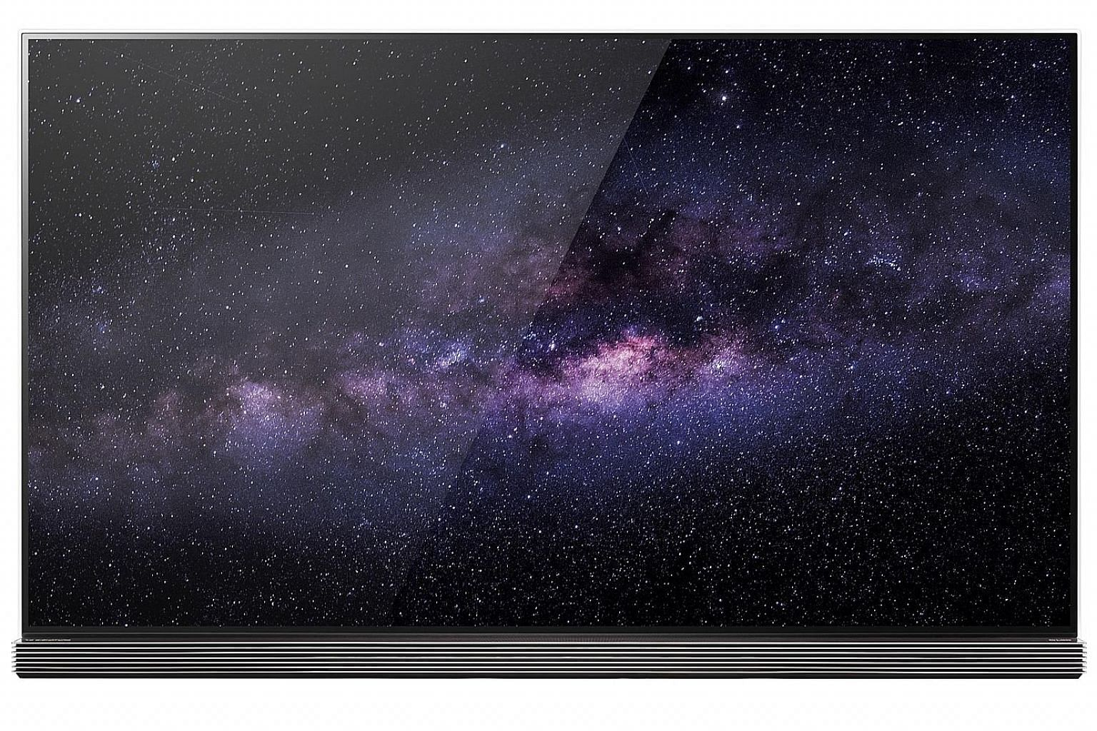 Because of its Oled screen, the LG Signature Oled TV looks fantastic from any angle, with little degradation in contrast.