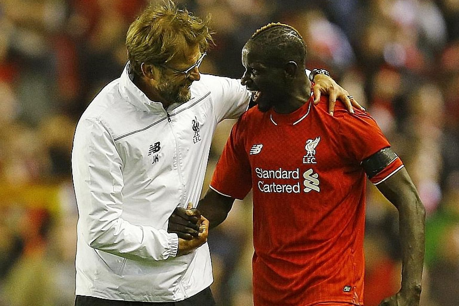 Liverpool manager Jurgen Klopp with Mamadou Sakho in May this year. The France international has not played since April, when Uefa told him that he had failed a dope test, although the case against him was dismissed this month.