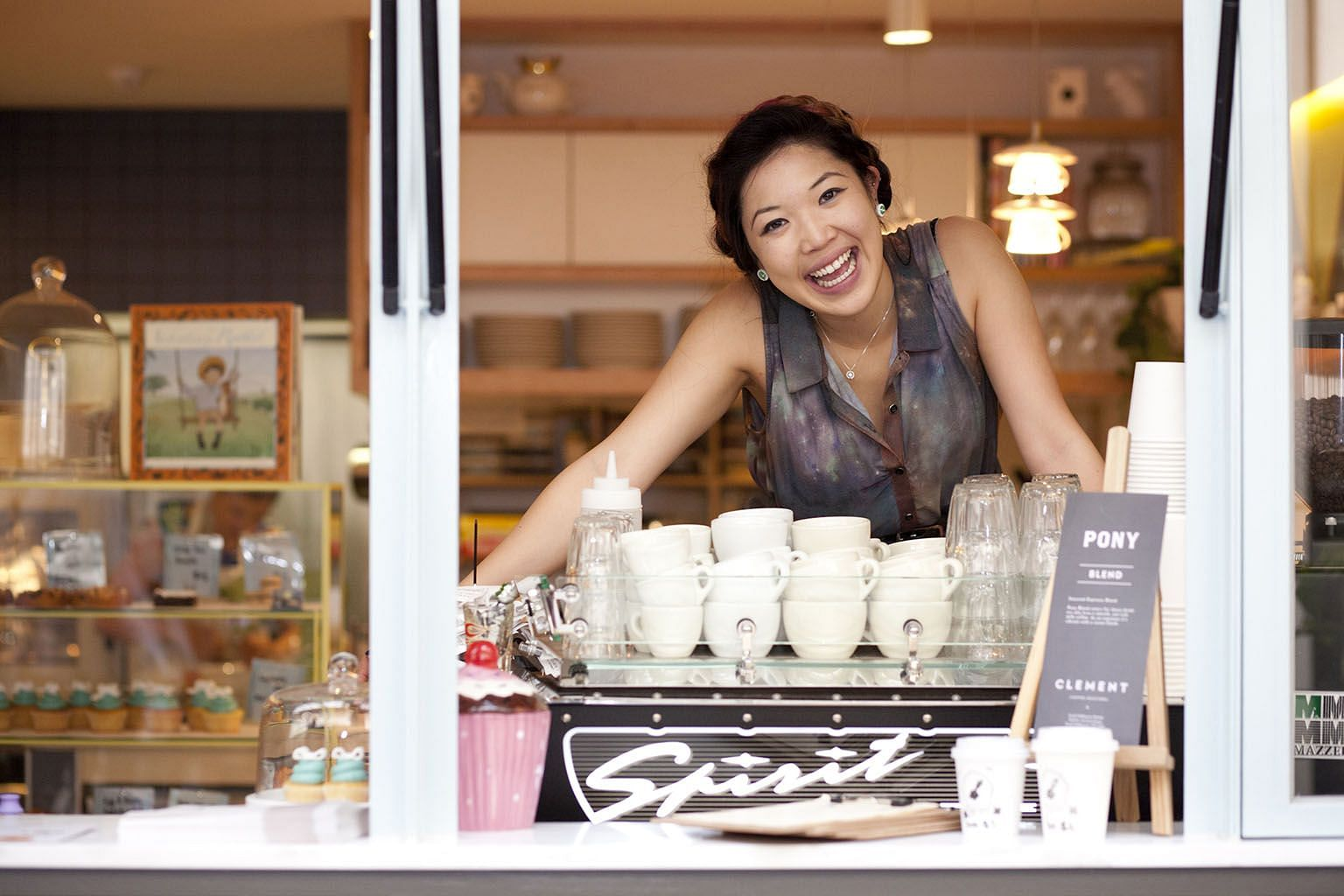 Ms Wong, who runs a cafe with an Alice In Wonderland theme in a small arcade in the centre of Melbourne, says the recycling scheme has made everything a bit cleaner and helped her run the cafe better.