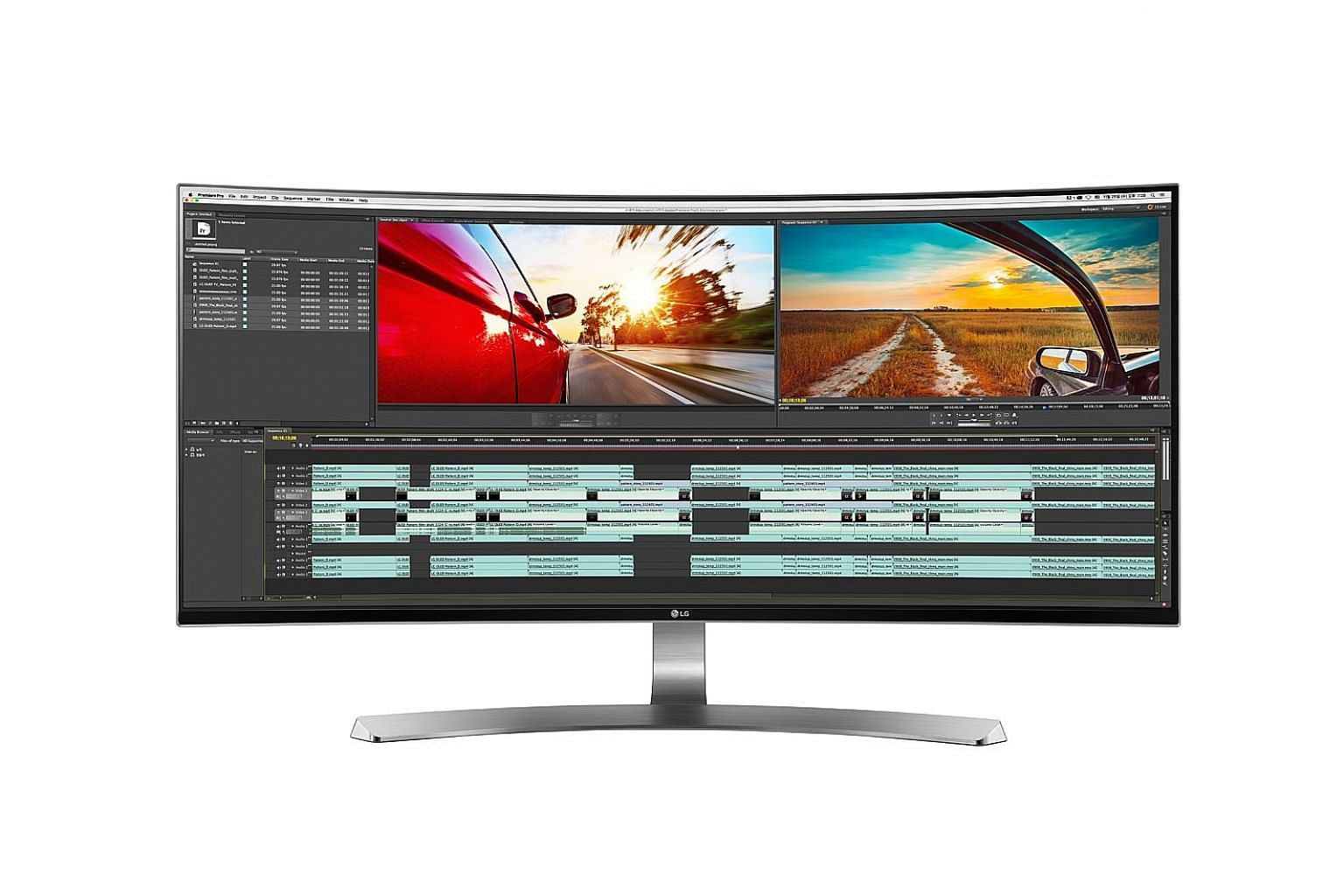 The wider screen of the LG 34UC98 UltraWide monitor offers ample space for multiple documents or windows to be placed side by side.