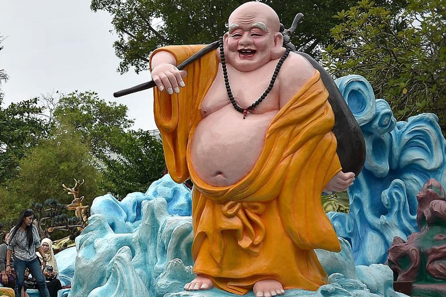 A sculpture at the 79-year-old Haw Par Villa. The study could lead to greater protection of the site and its artefacts, which reflect elements of Buddhist, Taoist and Confucian folklore.