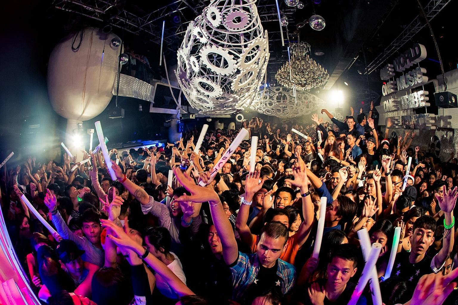The crowd at Zouk Singapore's New Year's Eve party in 2014.