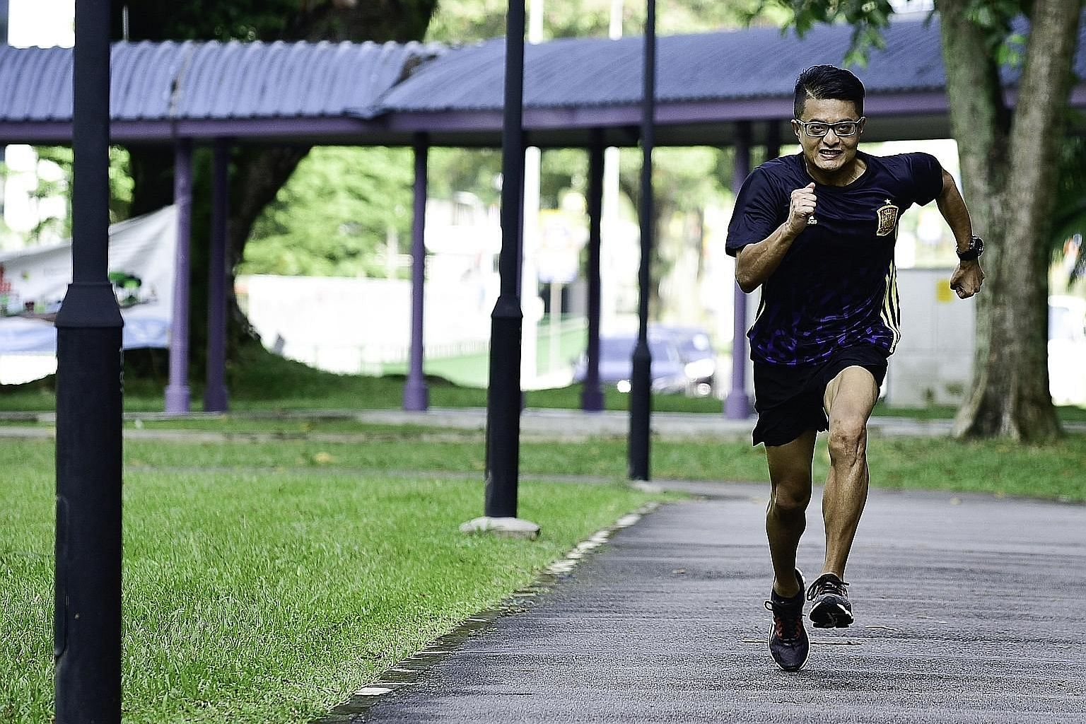 """Mr Ng's fitness routine keeps him focused, but he does allow himself one to two """"cheat days"""" a week."""
