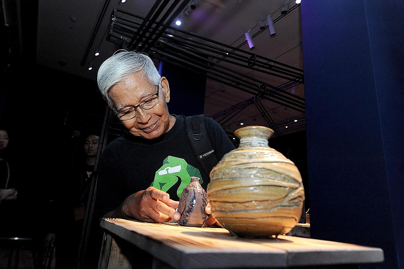 The textures of Iskandar's pots stand out because they are made from local rather than commercially available clay. He would scour Singapore for the material, even taking samples from unconventional places.