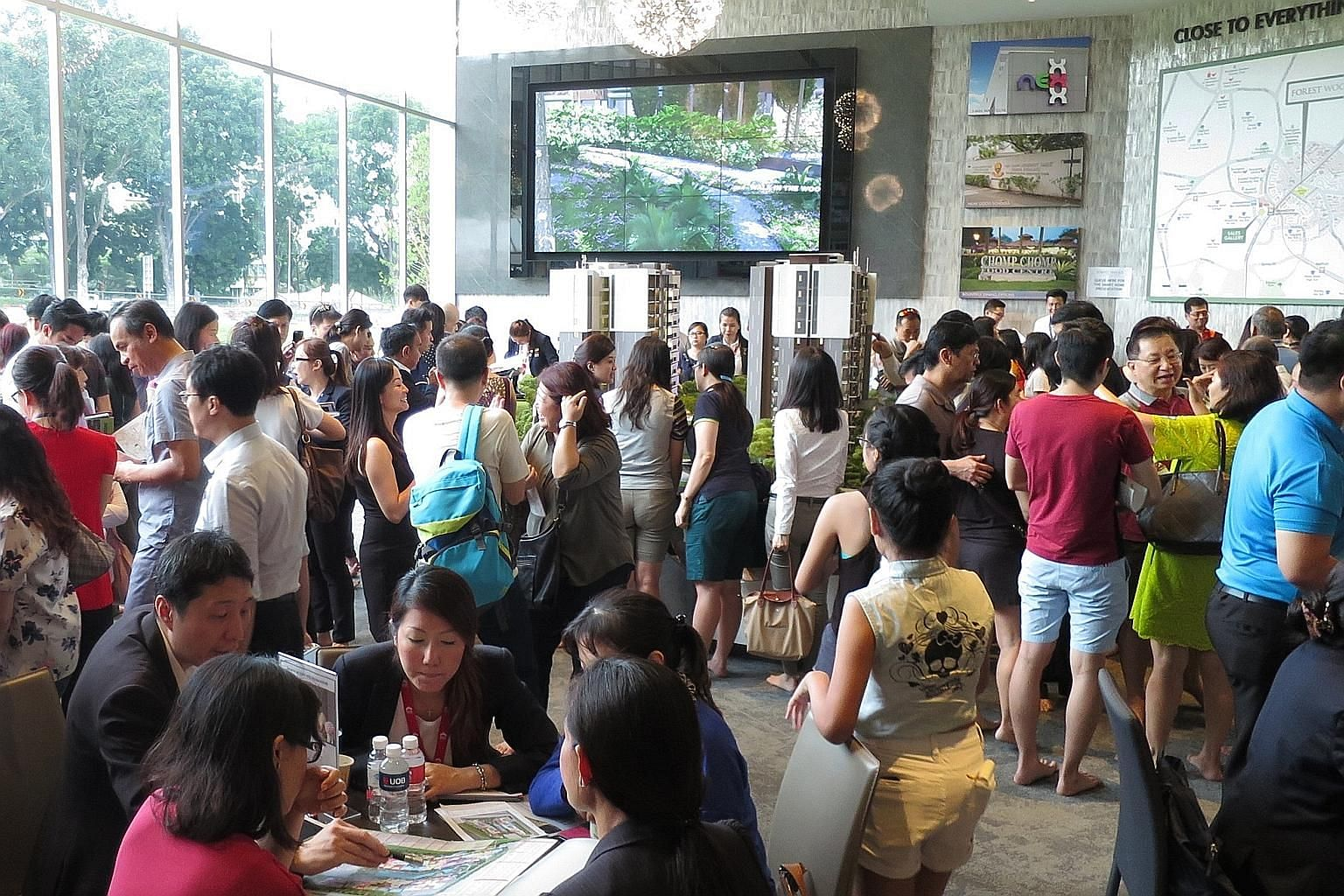 Crowds were drawn to the Forest Woods showflat preview, which started last weekend, due to the development's attractive location and pricing.