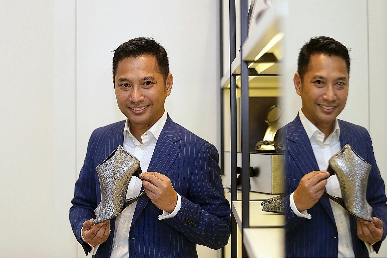 Former documentary film-maker Mashizan Masjum says his shoe designs are inspired by the programmes he has produced.