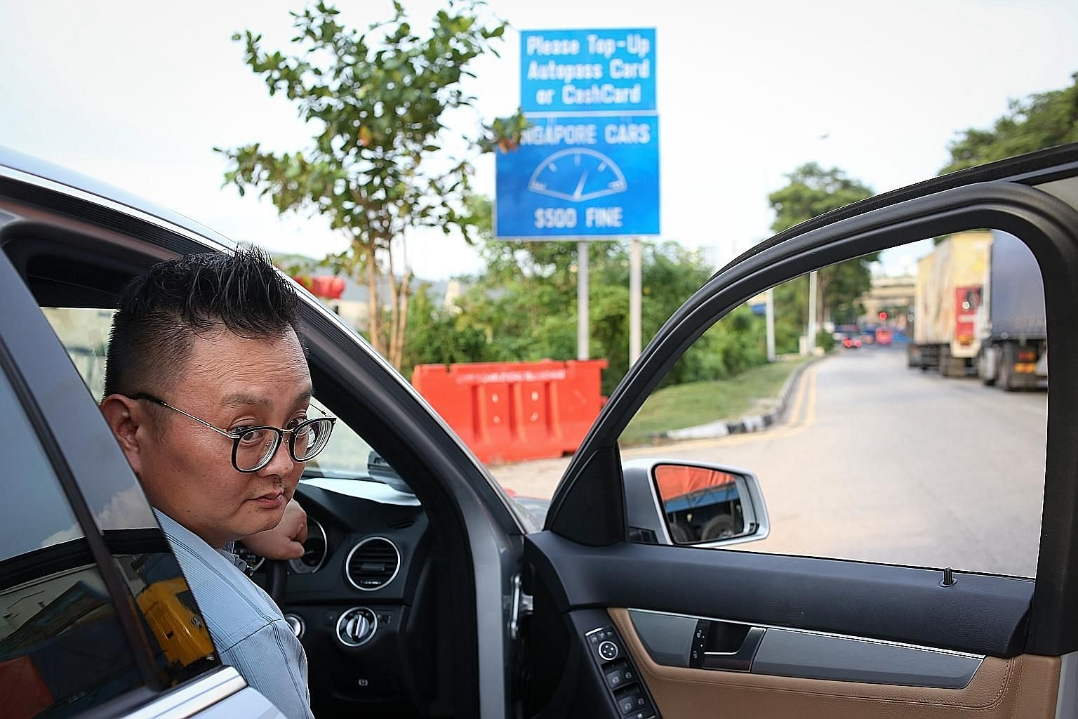 Some Singaporeans who live in Johor Baru, such as Mr Ng (above), are enjoying the less-crowded checkpoints.