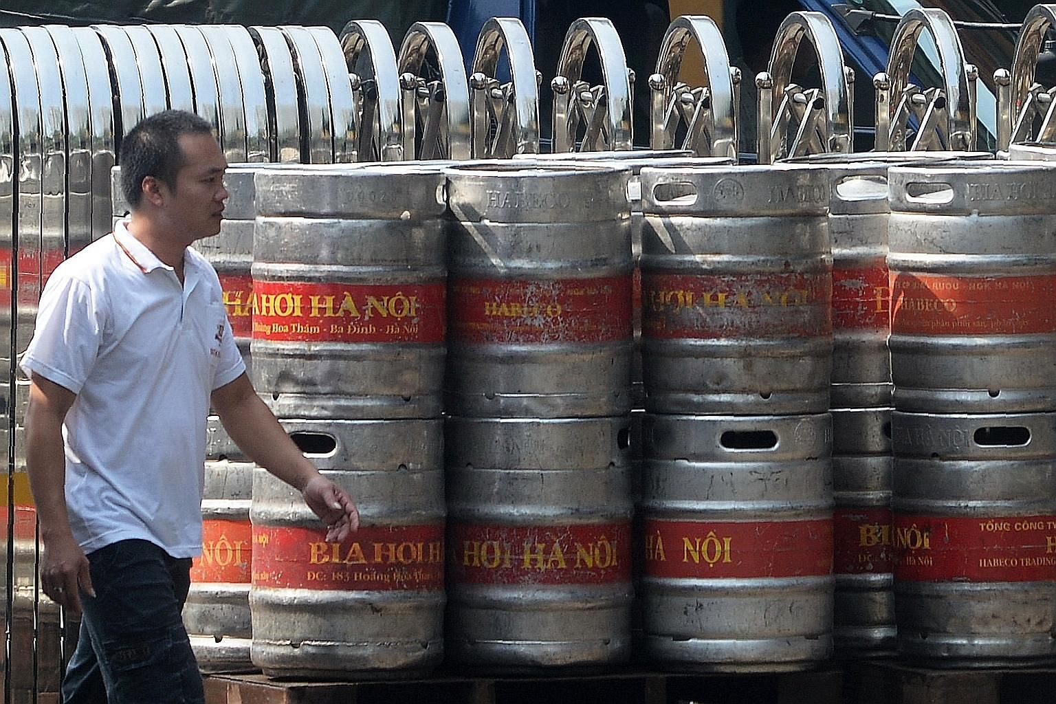 Kegs of beer at a brewery of the state-owned Hanoi Beer Alcohol Beverage Corp. To reduce its fiscal burden, Vietnam's government aims to raise billions of dollars by selling stakes in state-owned brewers.