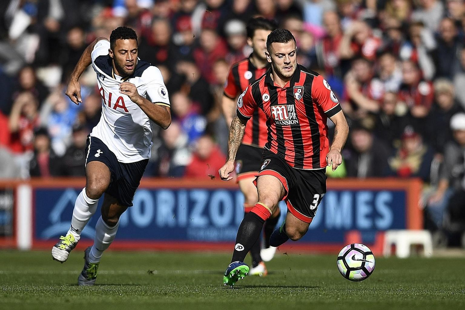 Jack Wilshere, on loan from Arsenal, on the ball for Bournemouth. He will not feature against his parent club today - as he could be the match winner for the Cherries, or make a mistake to give the Gunners three points.