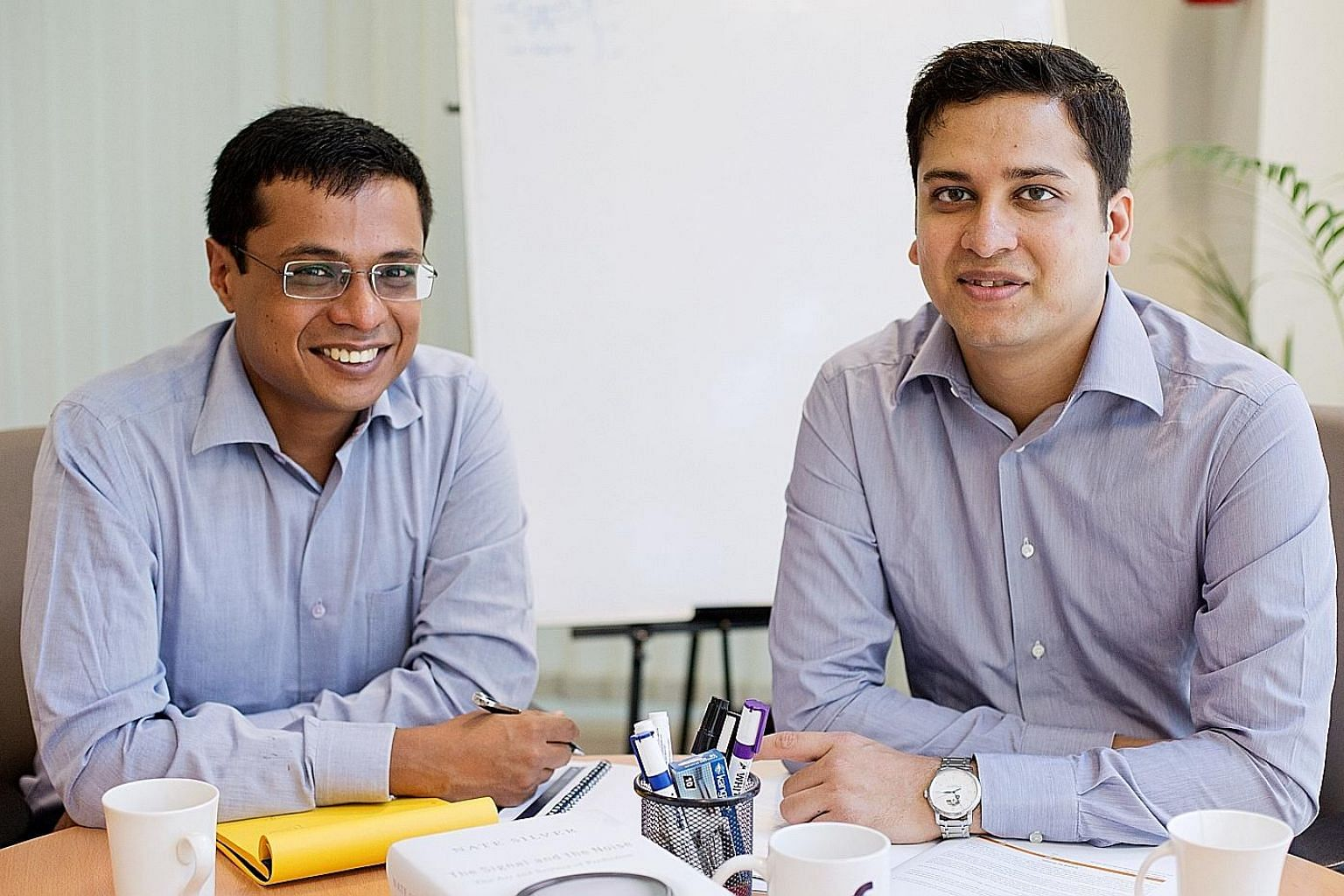 """You need to keep innovating and driving things forward,"" said Mr Binny Bansal (right), seen here with co-founder Sachin Bansal."