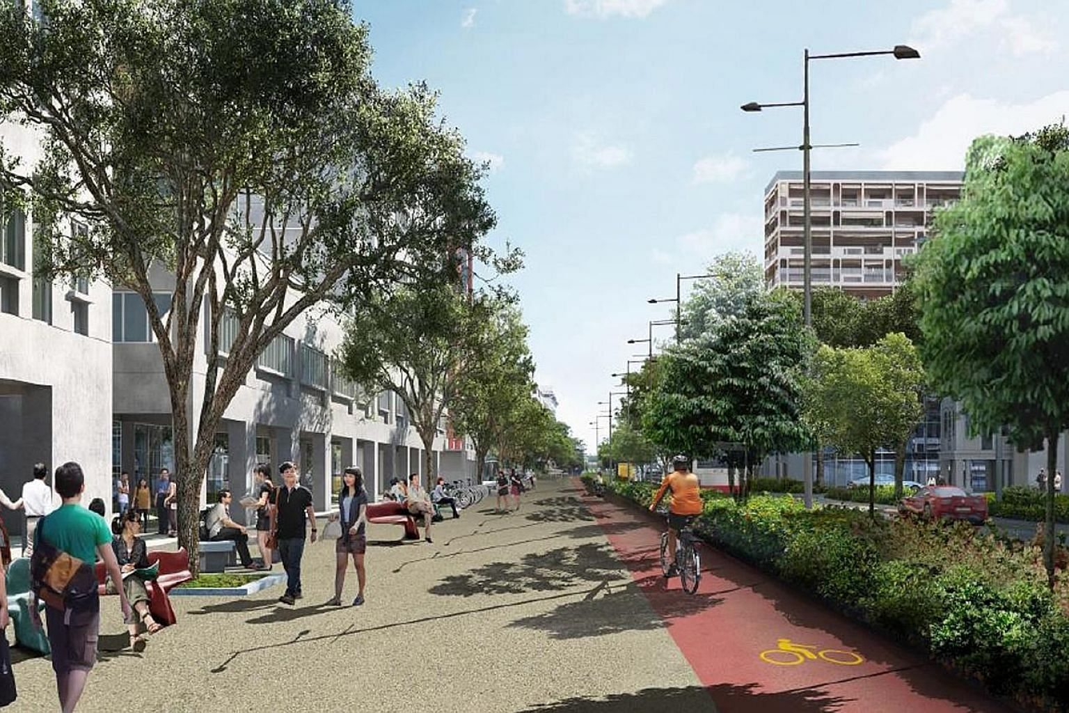 In a drive to make Singapore more car-lite, Bencoolen Street (artist's impression, above) will have wider footpaths and cycling paths when it reopens in the first quarter of next year. A review of the annual growth rate cap on the vehicle population
