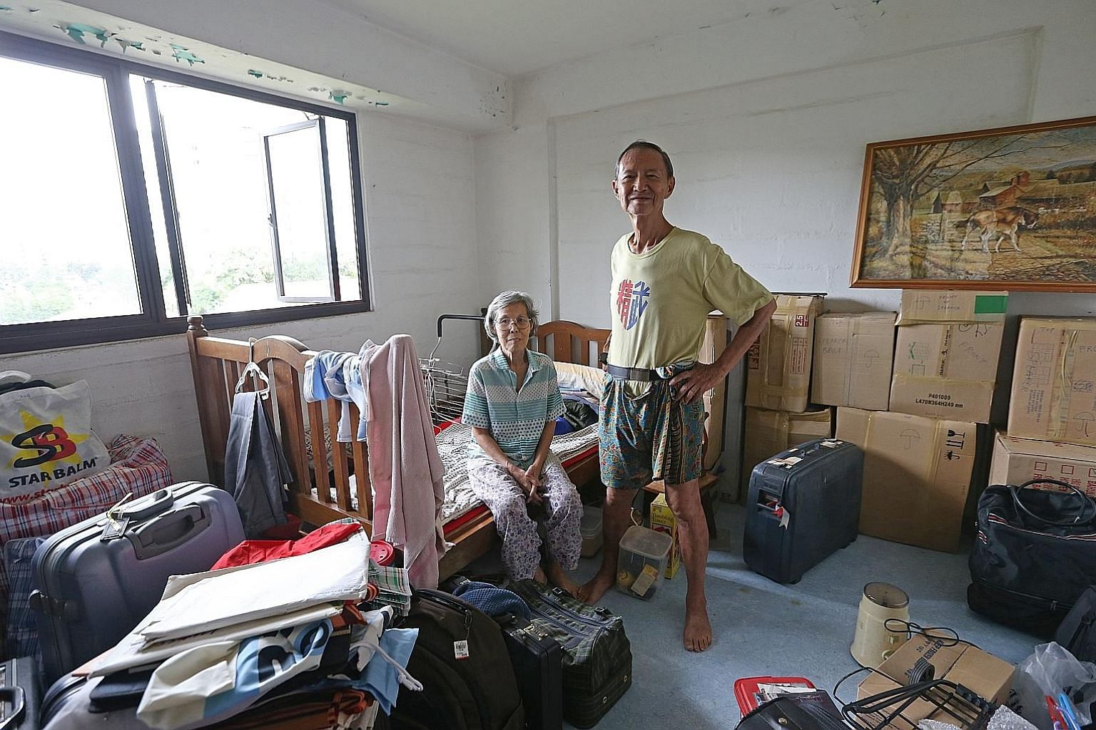Mr Vincent Chan and his wife, Madam Vipaporn Chamdeumtha- naporn, 63, will not make today's moving-out deadline. They have not received the keys to their new home and will not be able to move out of their three-room flat in time.
