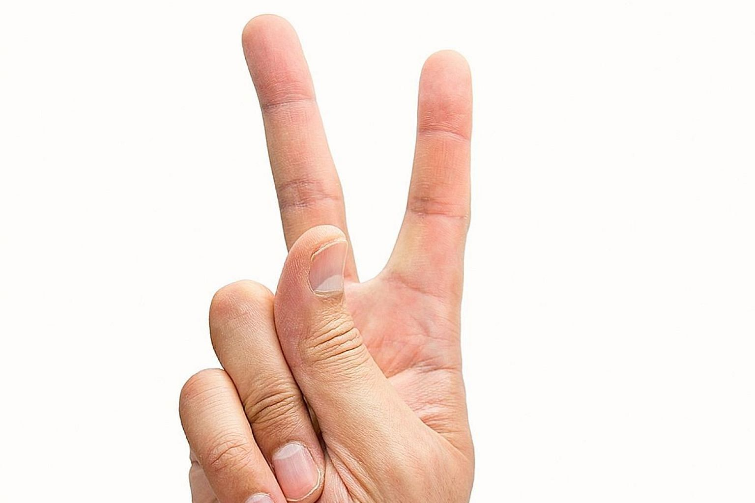 Researchers are able to copy fingerprints from photos taken by a digital camera, raising alarm bells over the two-fingered gesture.
