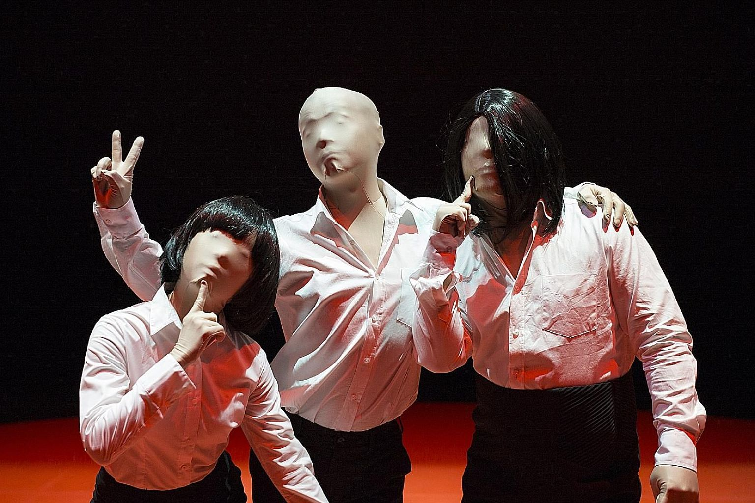 Skin Tight performers put on full bodysuits, an act in concealing and revealing.