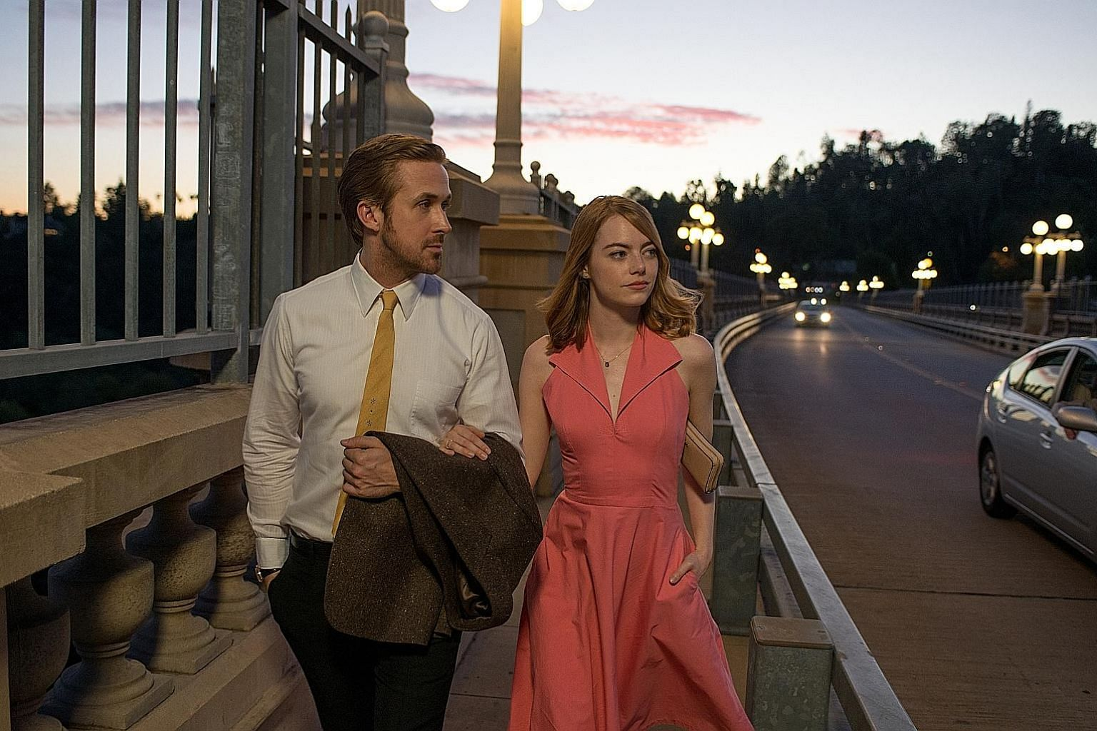 La La Land, starring Emma Stone and Ryan Gosling (both right), grabbed 14 Academy Award nominations, while Meryl Streep is up for Best Actress for her role in Florence Foster Jenkins (below, right).
