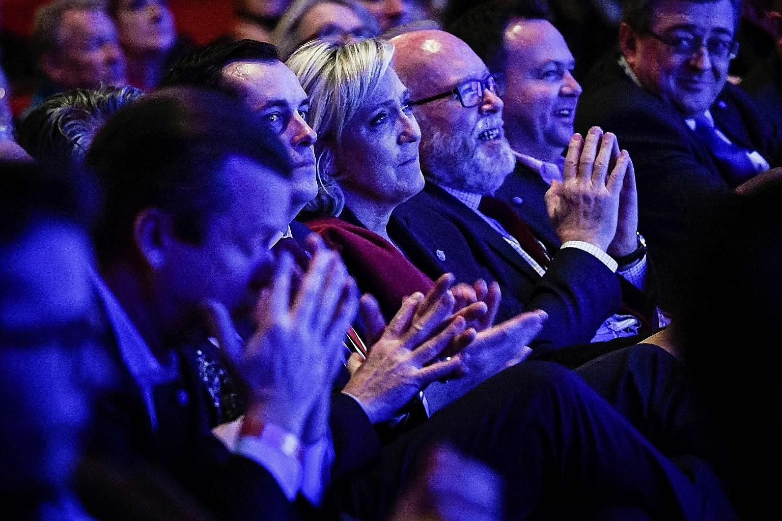 Ms Le Pen in Lyon last Saturday, attending a two-day rally to formally launch her campaign, with a populist agenda strikingly similar to the Trump platform.