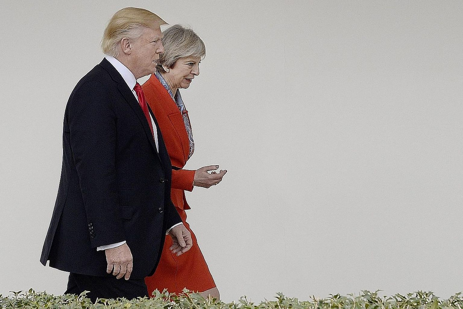 Mr Trump and Mrs May at the White House last month. The invitation to visit Britain that she extended to Mr Trump has been criticised as an unseemly and unprecedented outreach effort intended to offset the damage from the Brexit vote to leave the EU.