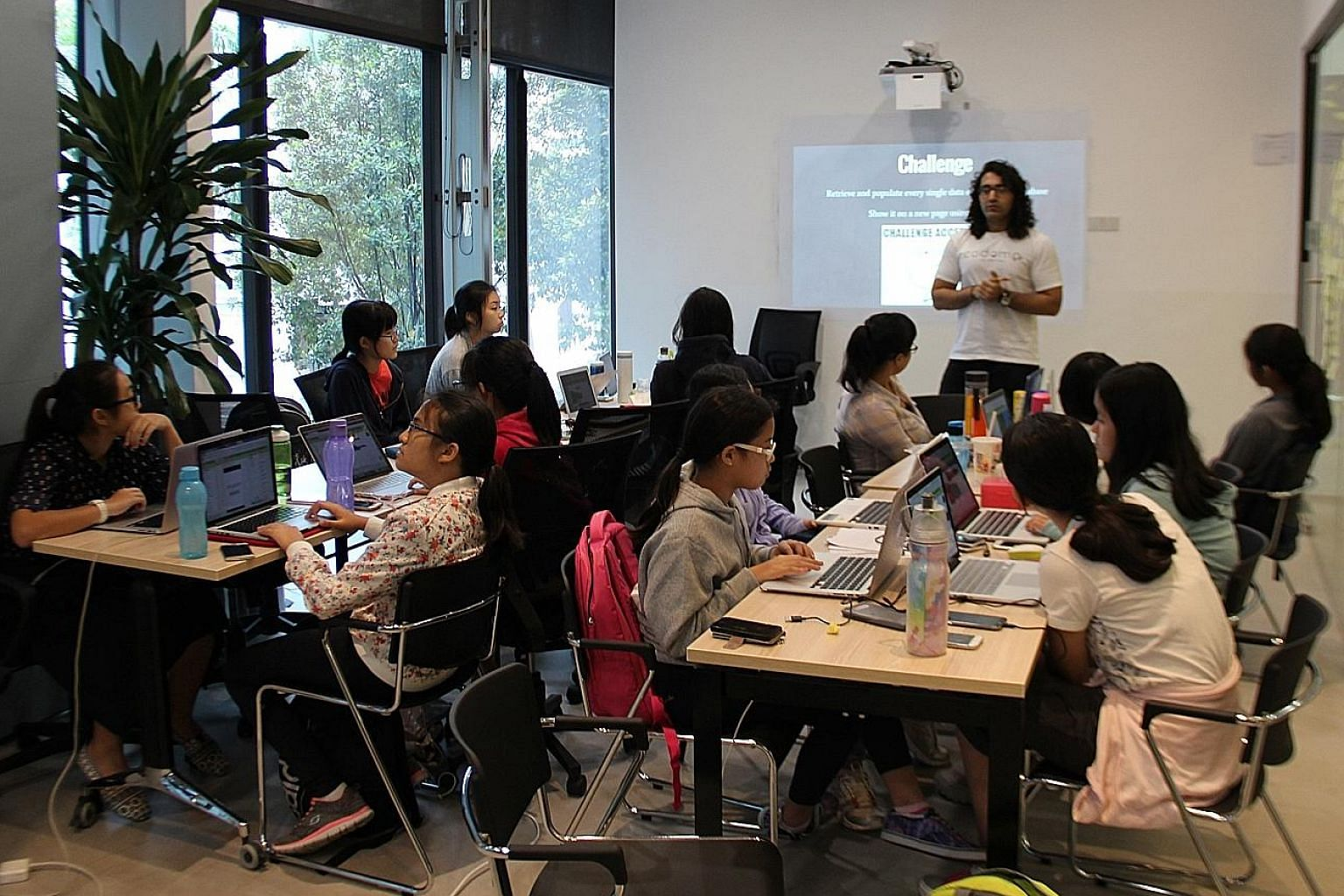 At a coding camp organised by charity 21C Girls and credit card firm Visa, girls acquire the basics relevant to a career in the tech industry. Charity founder Ayesha Khanna says she wants to build an environment where girls can discover how coding wi