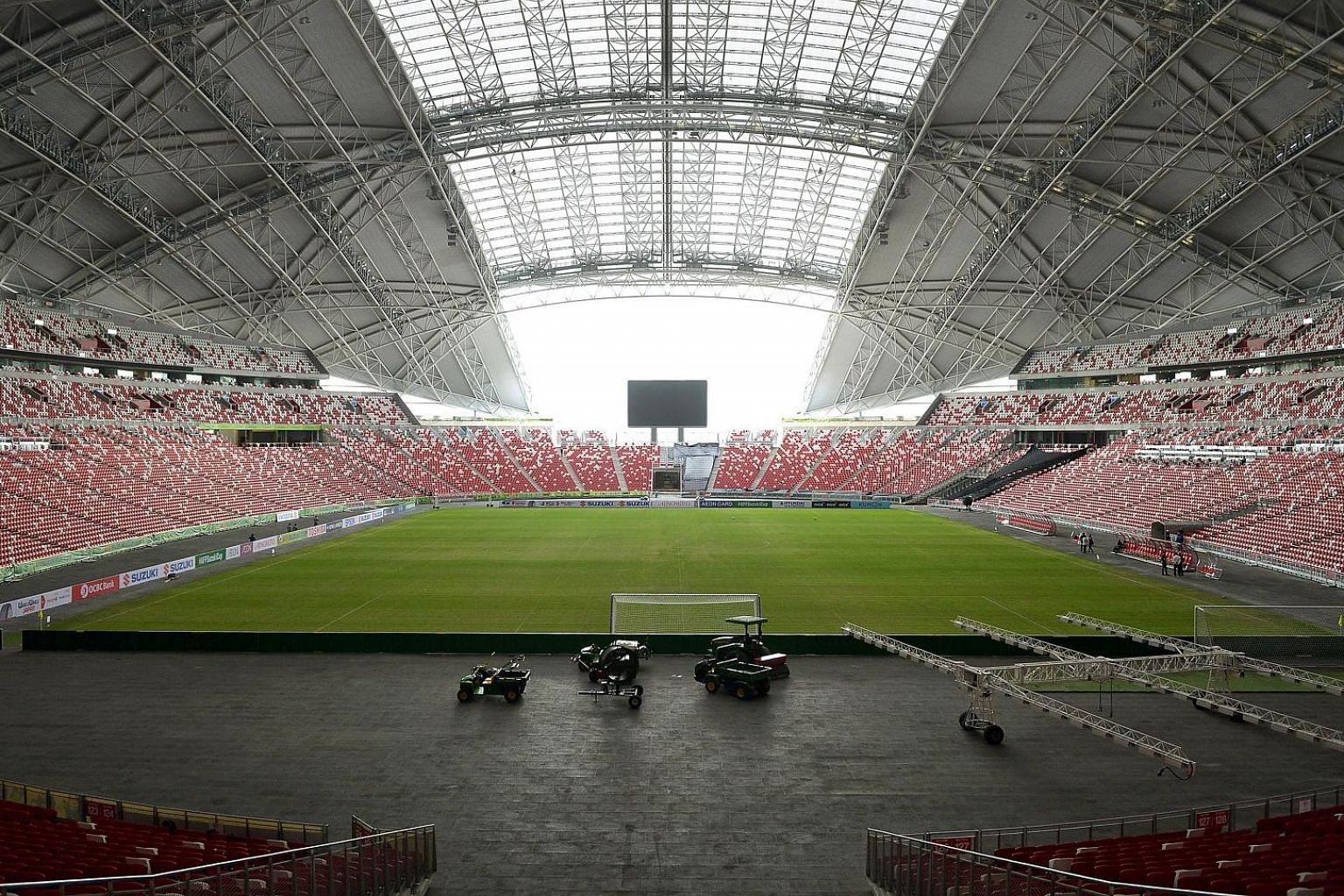 Coaches and officials say players will benefit from a short training session on the National Stadium field to get used to its texture and dimensions, as well as the atmosphere.