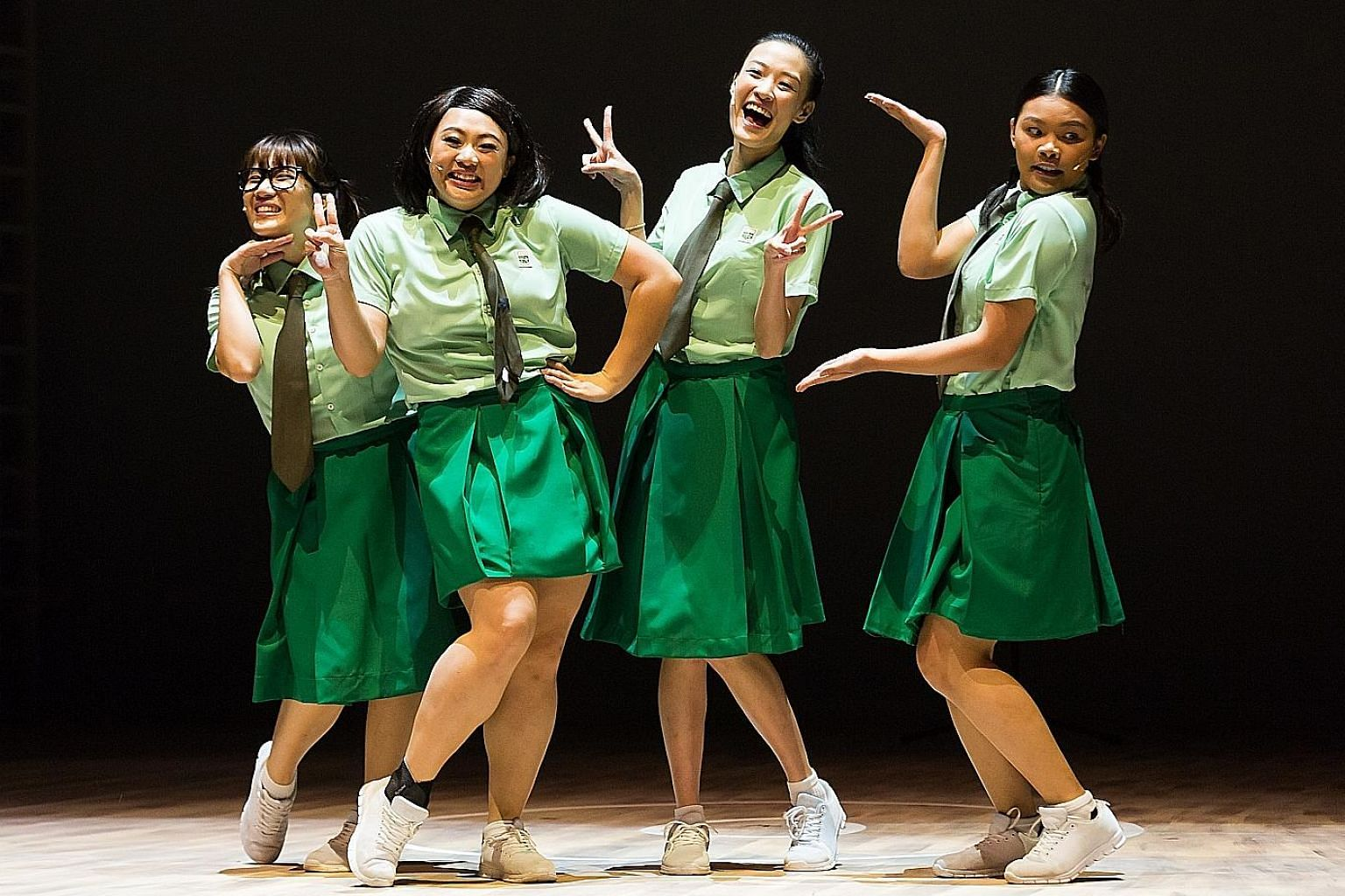 Actresses (from left) Natalie Yeap, Kimberly Chan, Valerie Choo and Alyssa Lie were as at ease acting as they were crooning Detention Katong's mellifluous melodies.