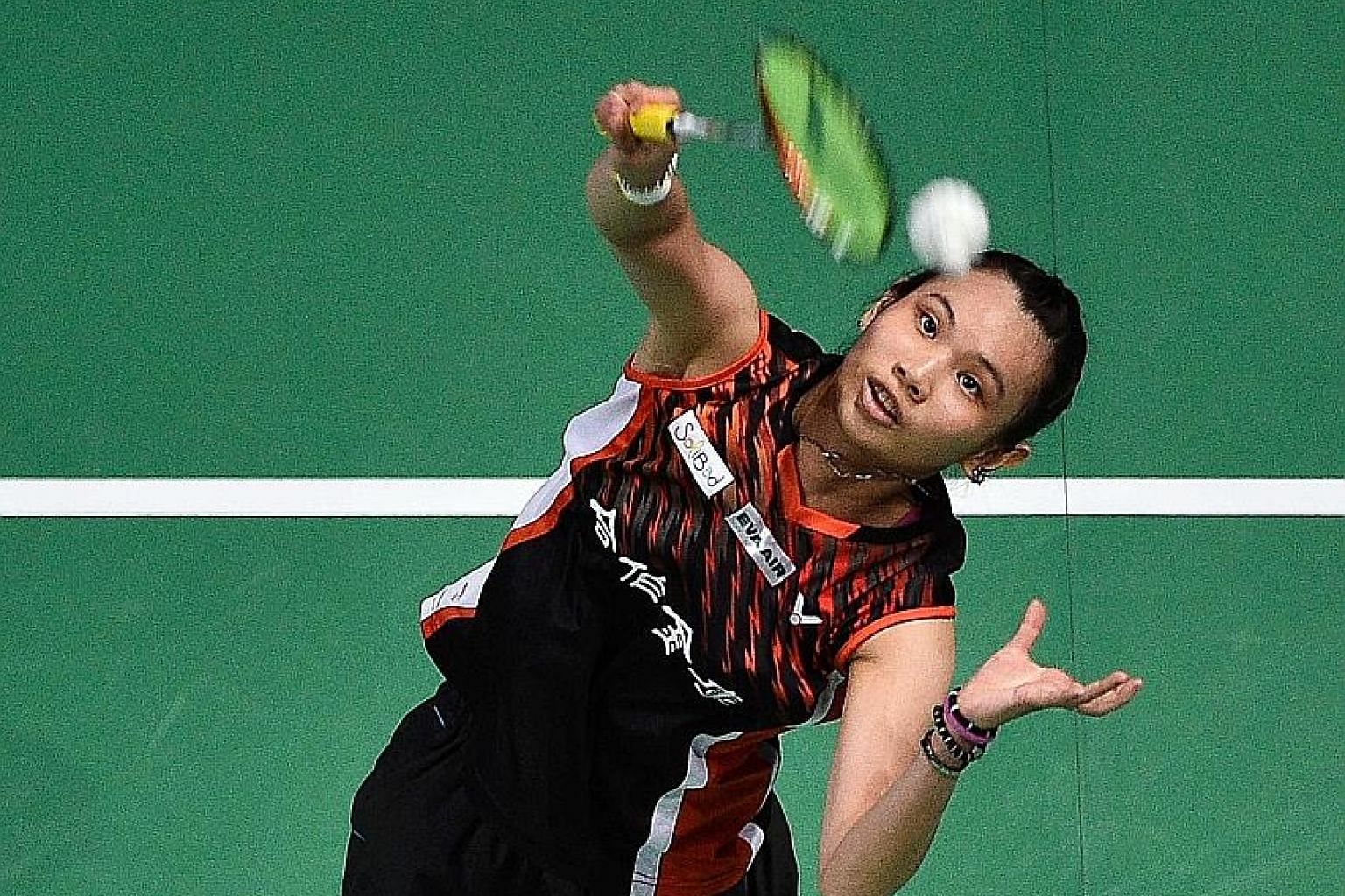 "Chinese Taipei's Tai Tzu-ying in action at the Dubai World Superseries Finals. She won her first tournament as world No. 1 in last December's season finale and has insisted that she ""doesn't feel much different"" since ascending to the top ranking."