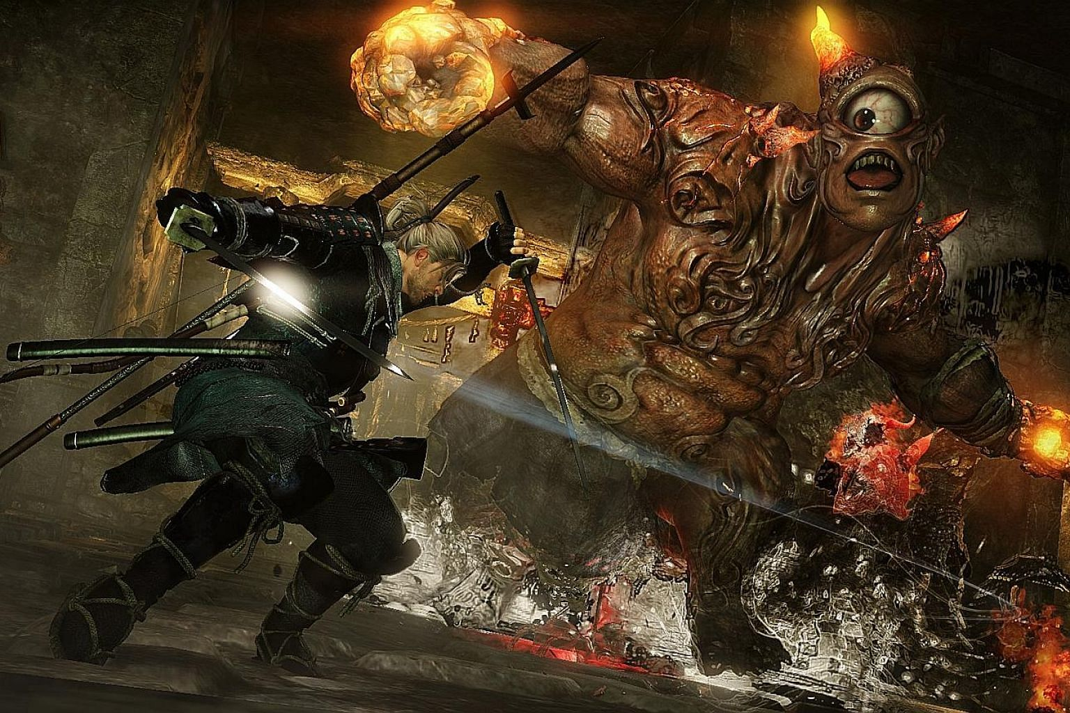 The bosses in Nioh are less scary but just as tough to beat as those in Souls games.
