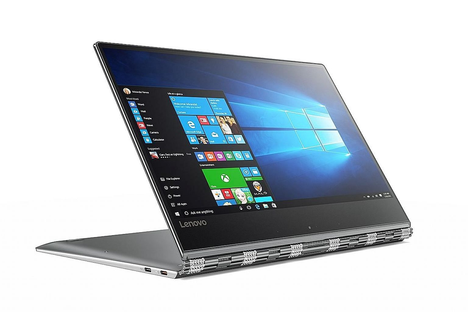 The Lenovo Yoga 910's 78 watt-hour battery is almost twice the capacity of the typical ultrabook battery.