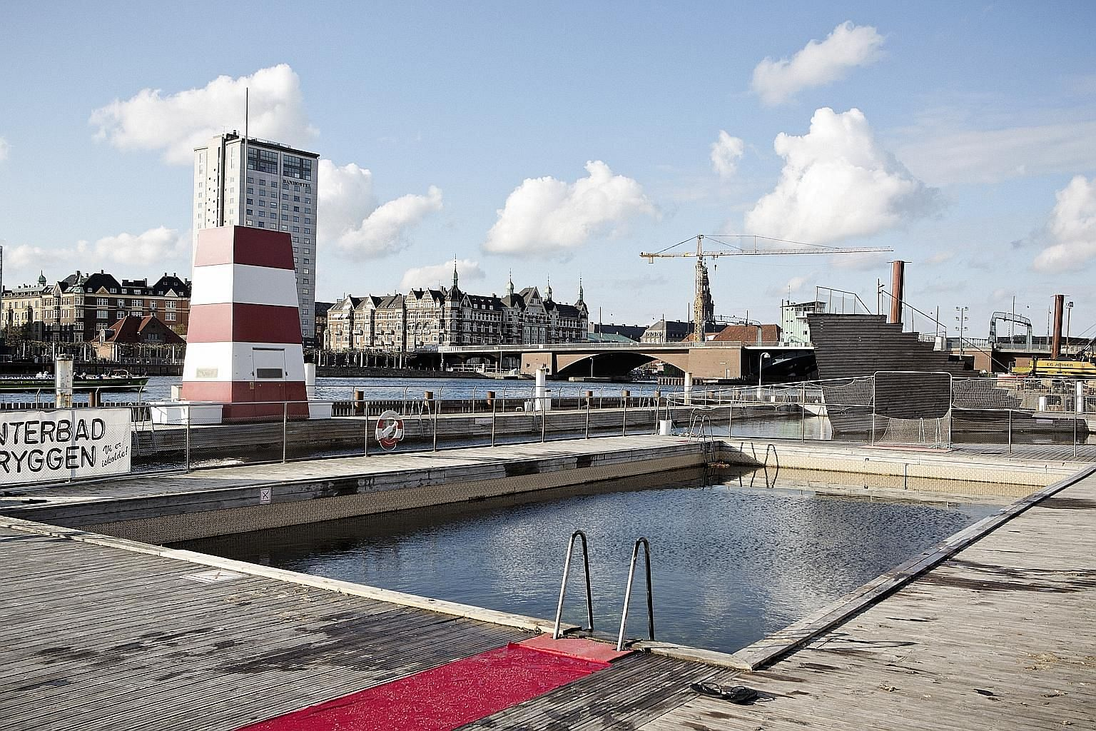 The Harbour Bath at Islands Brygge in Copenhagen allows residents to use their waterways for recreation. The water is so clean that they can swim in the city's harbour area.