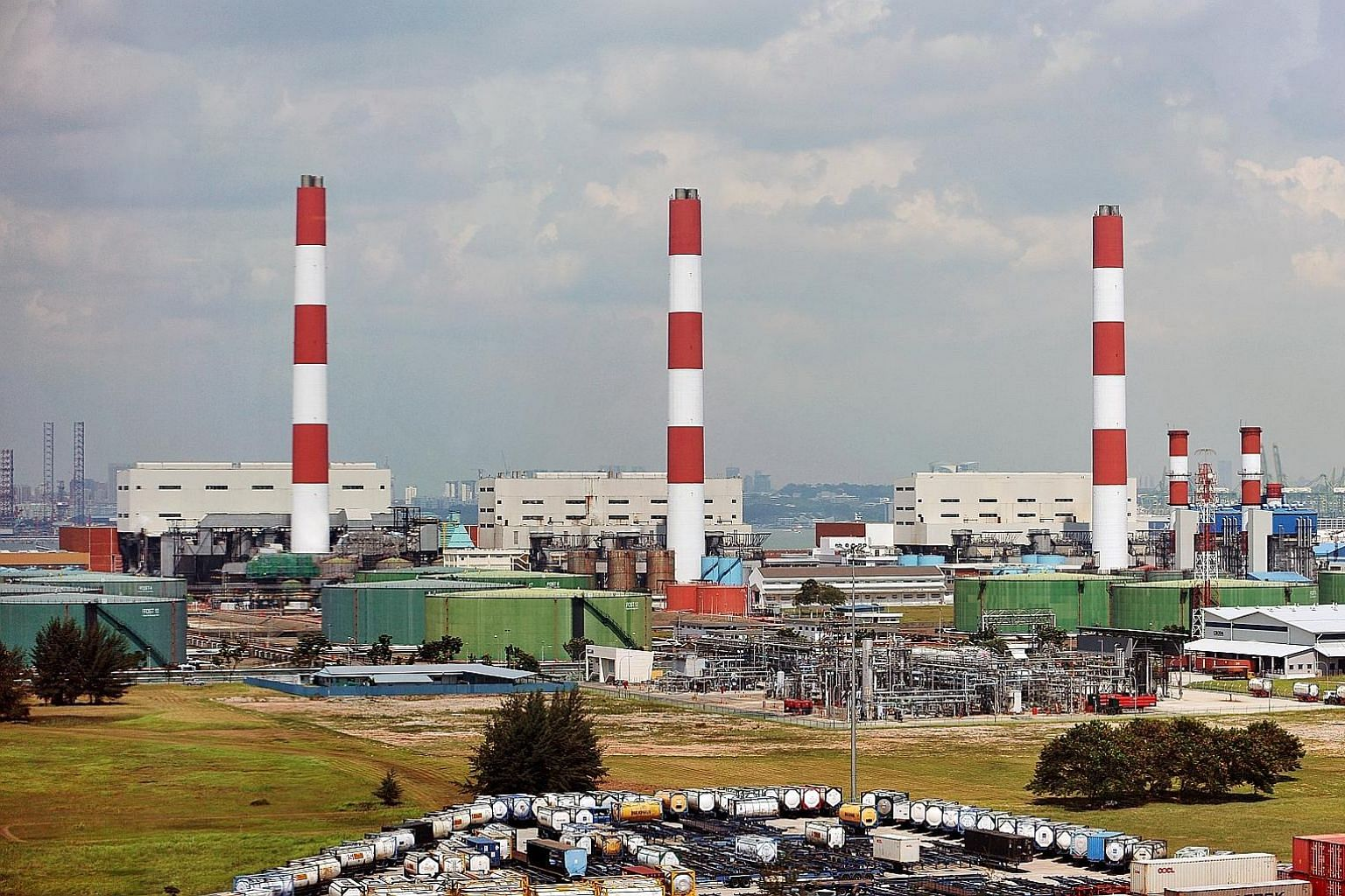 The Pulau Seraya Power Station on Jurong Island. The carbon tax will apply to power stations and other large direct emitters.