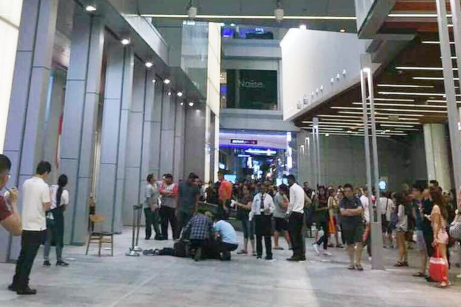 A 17-year-old died after he fell from the fourth storey of the Orchard Central mall yesterday afternoon. It is believed that the teen was taking a photo along the linkway bridge when his mobile phone dropped onto a ledge. He was trying to retrieve it