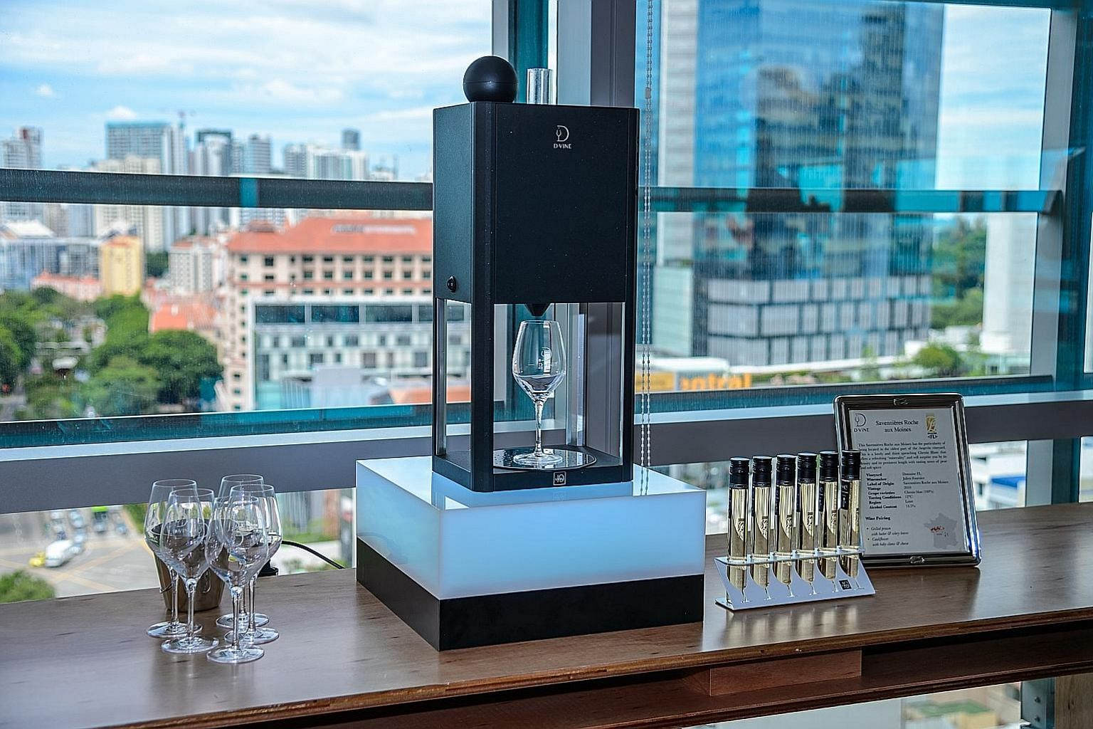 The D-Vine dispenses pre-packed 100ml servings of wine at the appropriate temperature and aeration. Coravin chief executive officer Frederic Levy can enjoy wine tasting at every dinner with the wine dispenser as corks reseal when the needle is remove