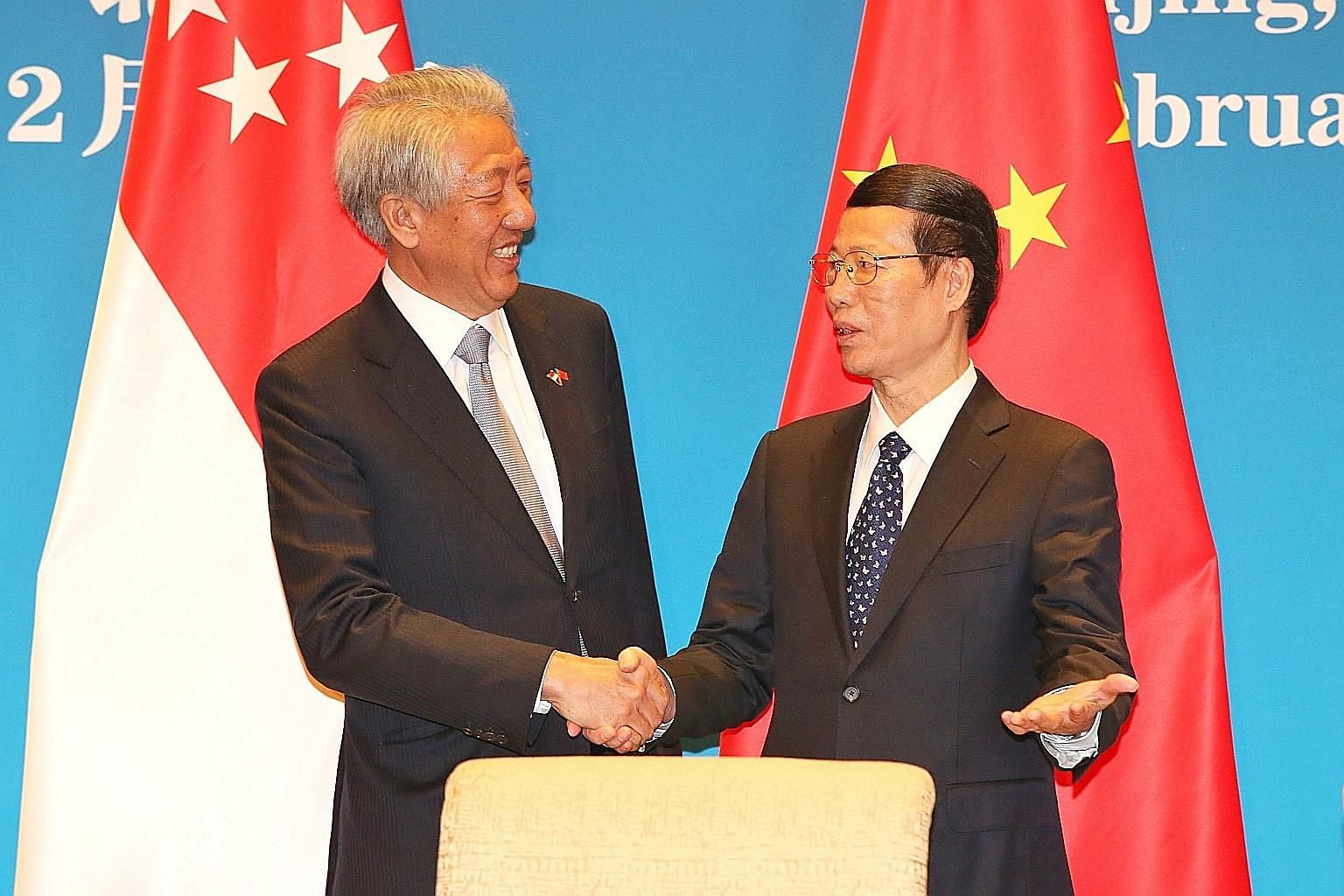 DPM Teo Chee Hean and Chinese Vice-Premier Zhang Gaoli chaired the 13th JCBC session on Monday.