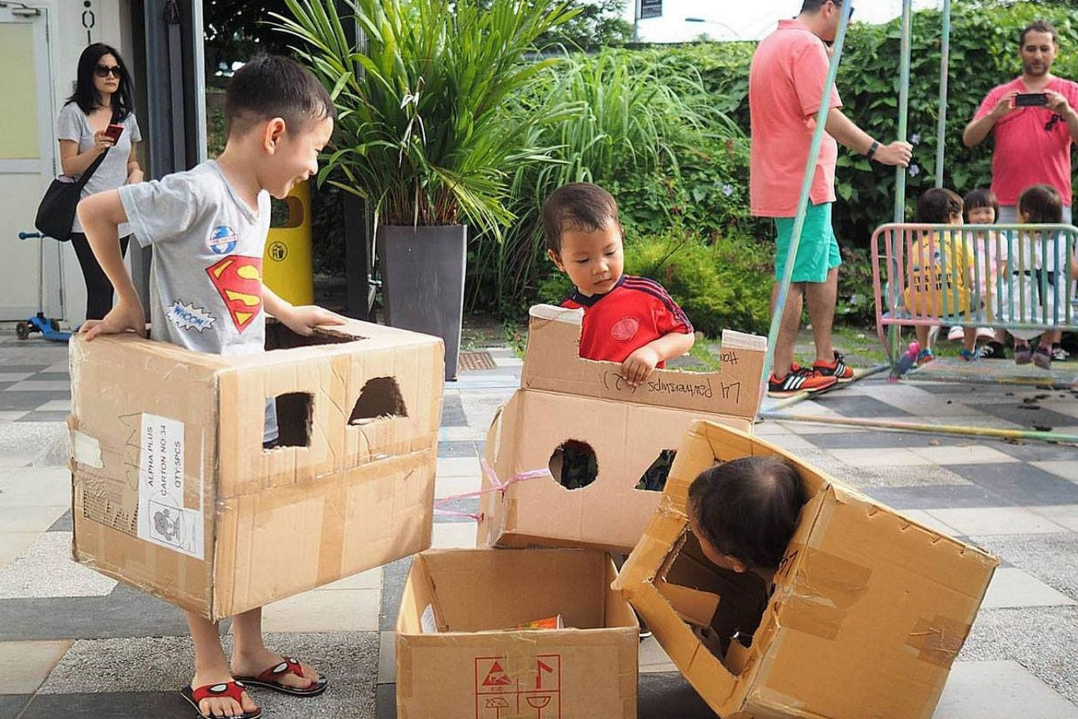 Chapter Zero Singapore will set up a playground for children using recycled materials such as wooden pallets and cardboard boxes.