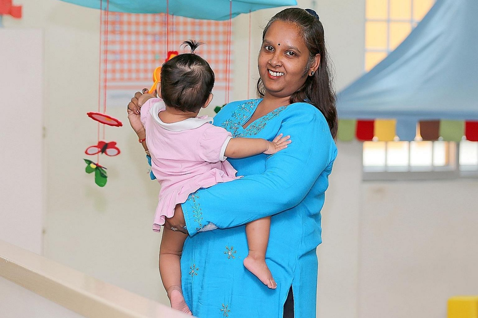 Ms Nyaneswari Paramasivam, an assistant infant care teacher at My First Skool, will be among the first batch of allied infant educarers trained. The new scheme focuses more on hands-on practice. She had been reluctant to return to the infant care sec