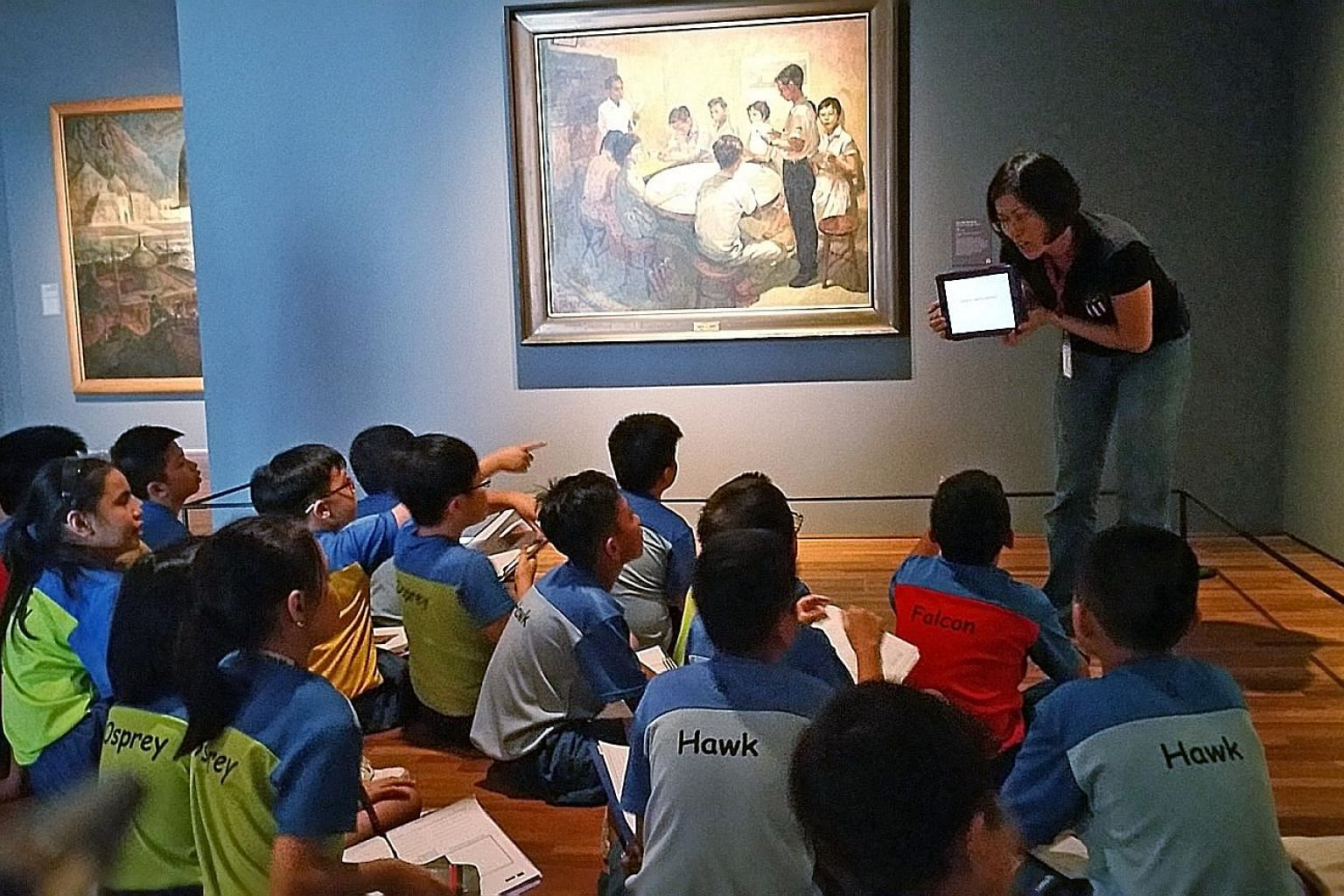 Children at the National Gallery Singapore. The comprehensive heritage blueprint will look at how to better protect the country's archaeological heritage through policy and legislative reviews. Other aspects of the plan include making museums and cul