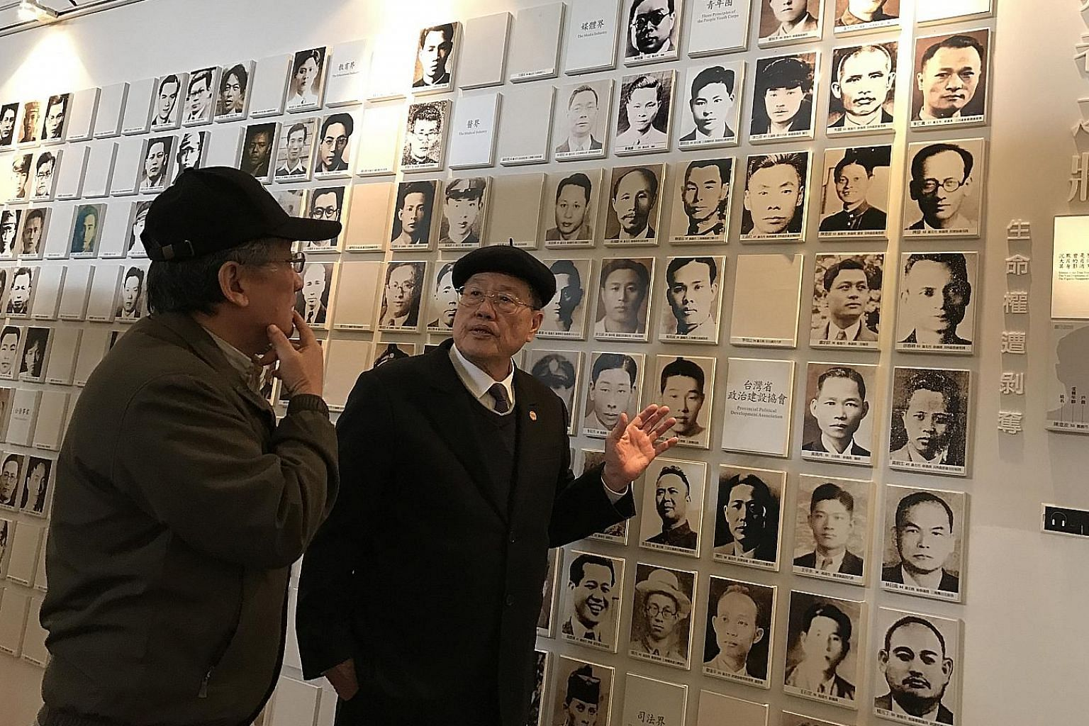 Chiang Kai-shek's status and deeds are being re-examined. Taiwan may rename the Chiang Kai-shek Memorial Hall and remove his statues. Mr Pan (in black suit) and Mr Yang recalling how their loved ones were victims of the Feb 28, 1947, crackdown under