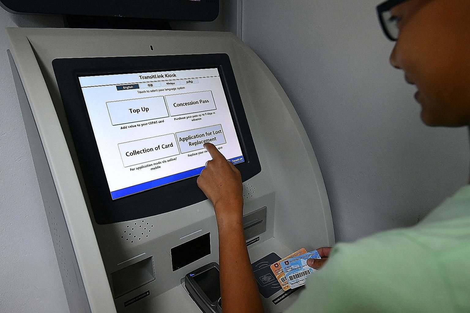 A pilot kiosk has been operating at Buona Vista MRT station since May and has processed more than 800 card replacements so far.