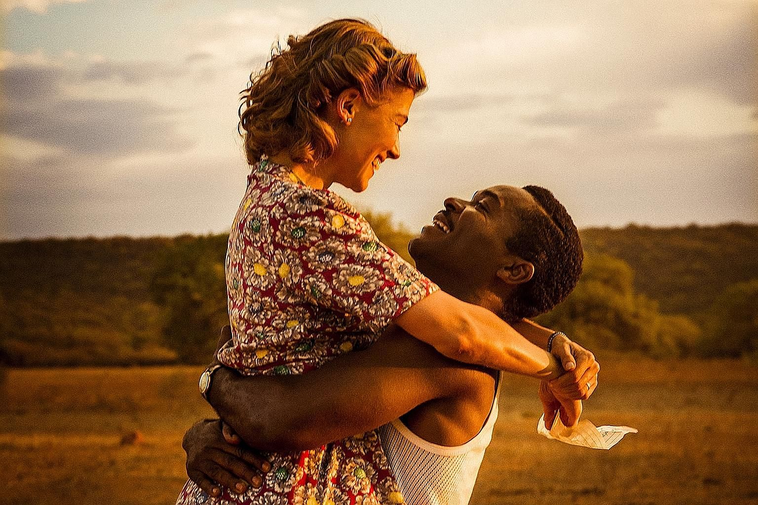 Rosamund Pike and David Oyelowo star in A United Kingdom, about a black man and white woman who fall in love in England in the 1940s.