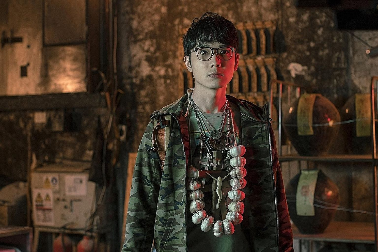 Babyjohn Choi plays Tim, an aimless young man who takes it upon himself to protect a human-looking vampire in the horror comedy Vampire Cleanup Department.
