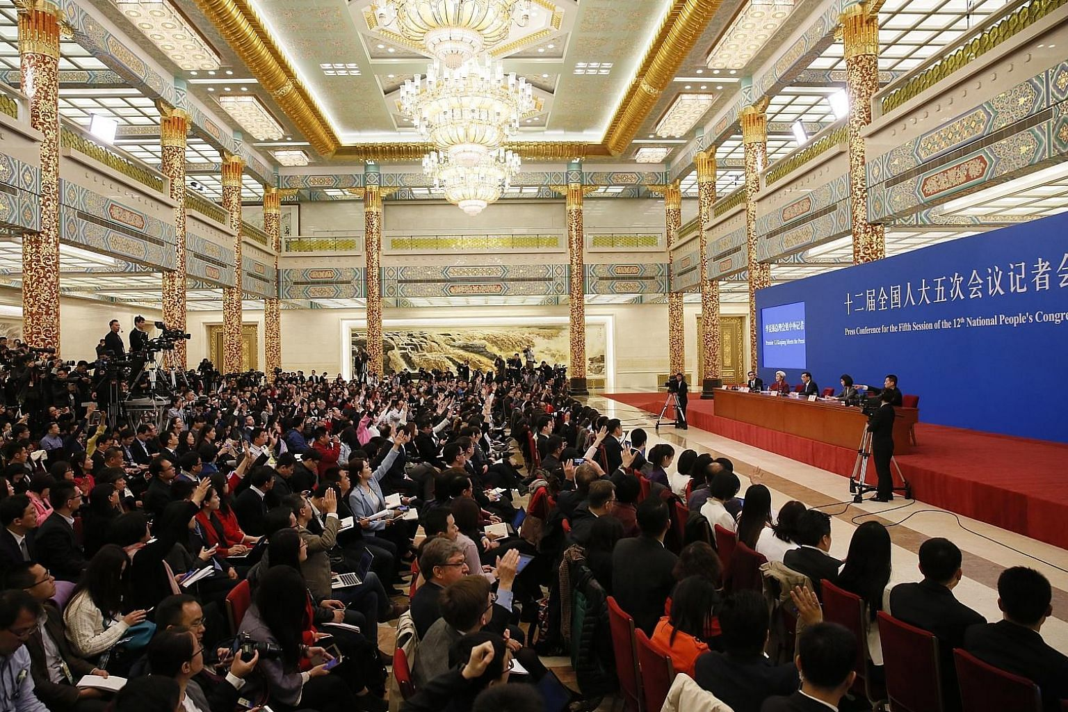 Chinese Premier Li holding a press conference after the fifth session of the 12th National People's Congress in Beijing last week, where he was reassuring on ties with Asean. But the writer says the jury is still out on whether China will walk the ta