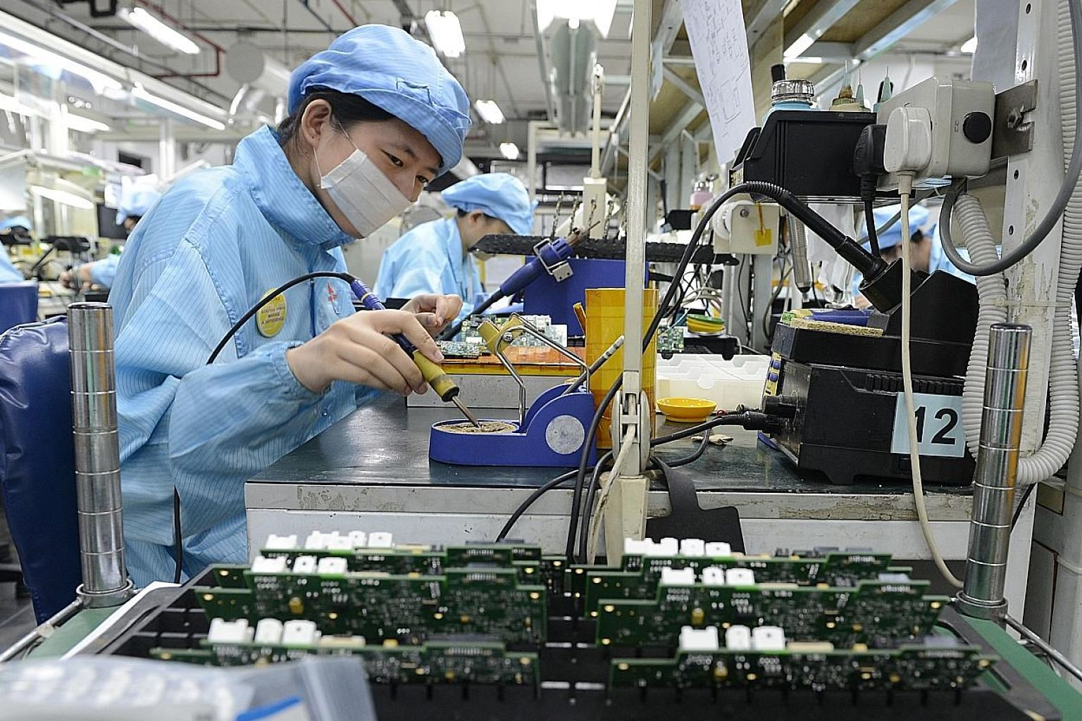 Electronics output last month swelled 39.8 per cent year on year, on robust growth in the semiconductors segment.