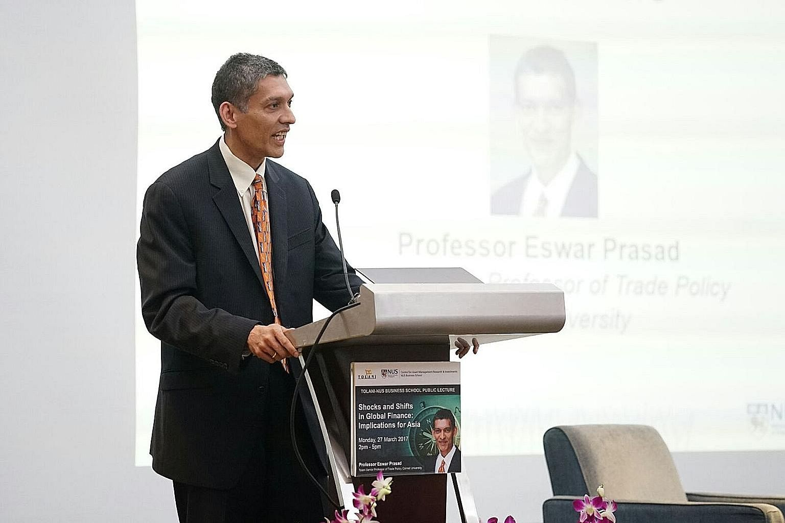 Prof Prasad, speaking at an NUS Business School public lecture yesterday, said that regional countries may have little choice but to align more closely with China if it took over the leadership role in shaping the international economic order.