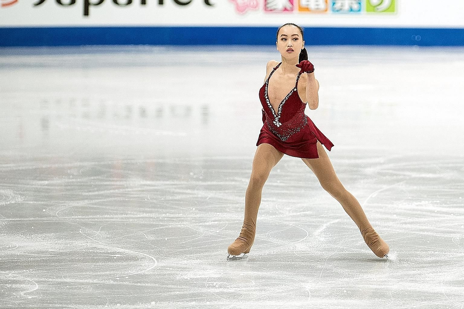 Singapore's Yu Shuran putting in a personal best performance at the World Figure Skating Championships in Helsinki.
