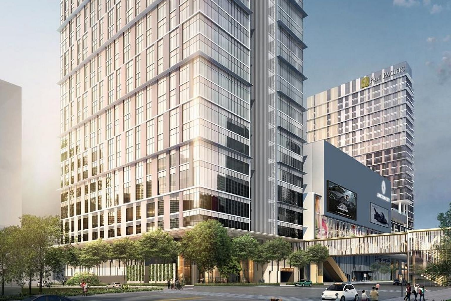 The 23-storey Junction City Tower - developed by Keppel Land and Myanmar's Shwe Taung Group - has Grade A office space with a net leasable area of about 33,400 sq m.