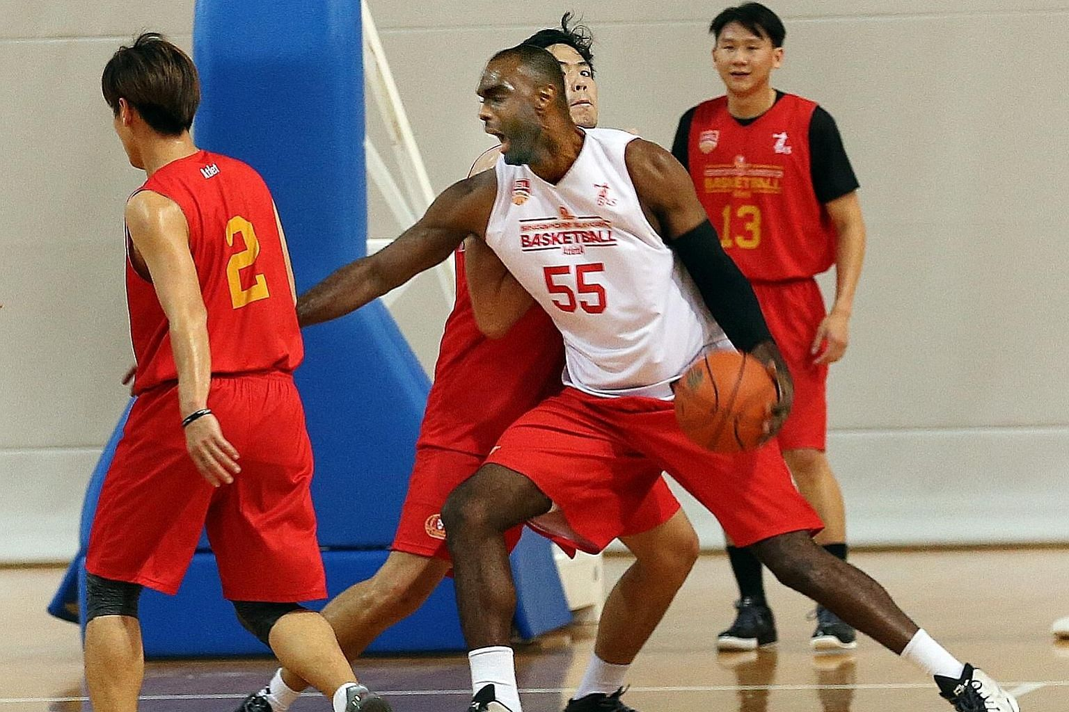 The Singapore Slingers training ahead of their best-of-three ABL semi-finals play-offs against Alab Pilipinas. They are aiming to make a second straight Finals appearance in the hope of winning their first ABL title.