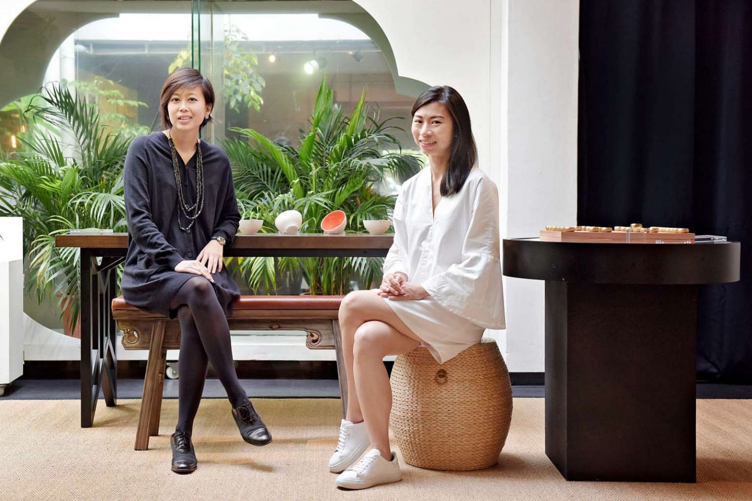 Scene Shang's co-founders Jessica Wong (far left) and Pamela Ting started their business in 2014, and hope to go regional by the end of next year.