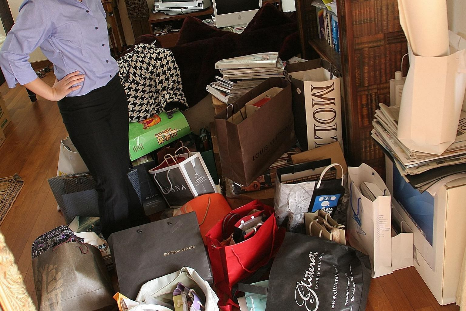 While decluttering is good for the earth, it can be dangerous if we feel so good about purging that it gives us permission to shop some more. First, we get high on tossing out stuff, then we get high on buying stuff.