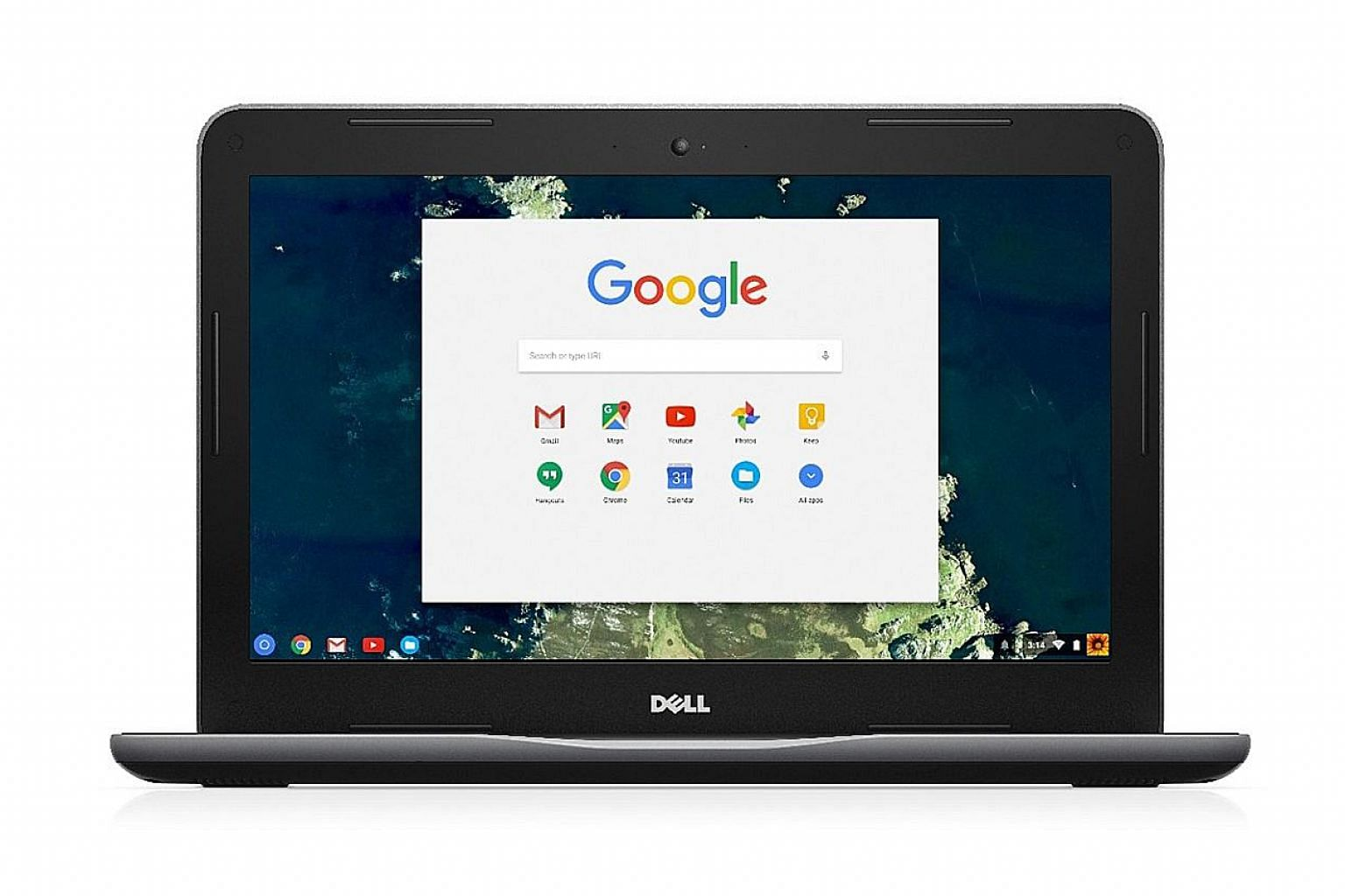 Dell's Chromebook 13 3380 has an Activity Light at the corner of the lid which students can use to signal to the teacher in a classroom..