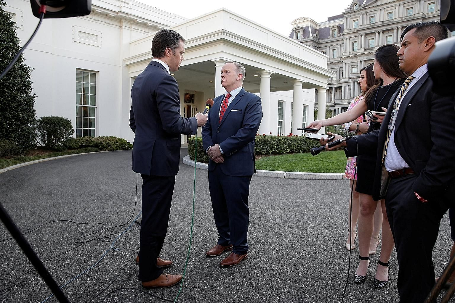 White House press secretary Sean Spicer continues to face increasing backlash and calls for his resignation after he compared Syria's President Bashar al-Assad with Adolf Hitler and denied that Hitler had used chemical weapons to kill millions of Jew