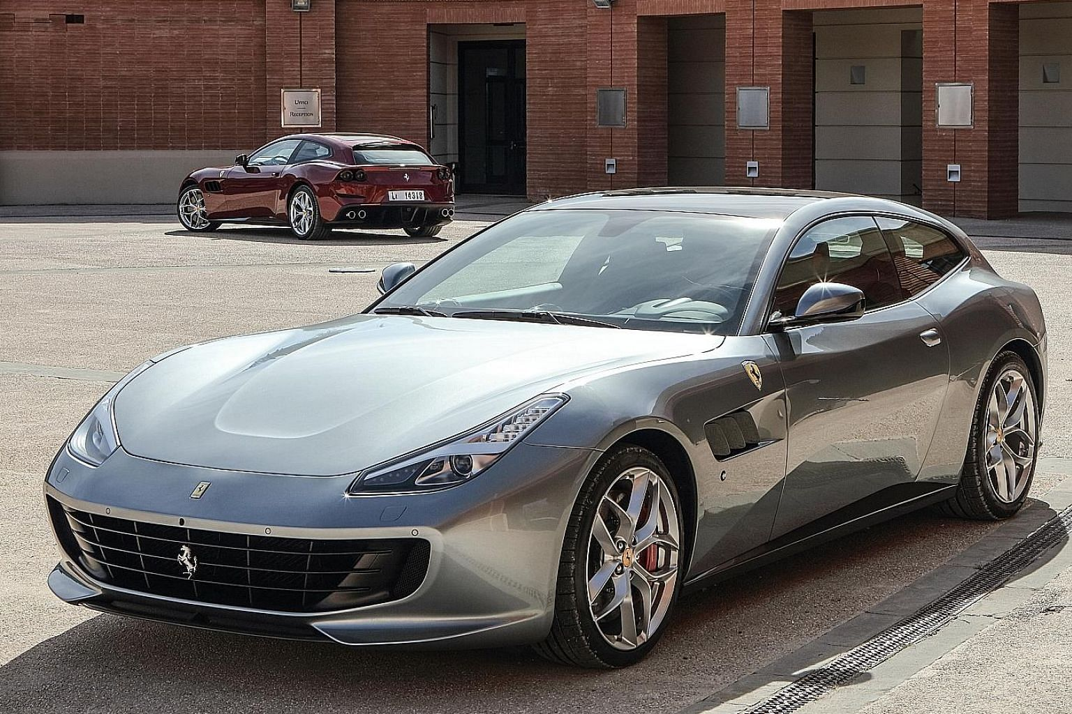 The performance of the Ferrari GTC4Lusso T (above) is impressive, despite not having the V12's all-wheel-drive system.